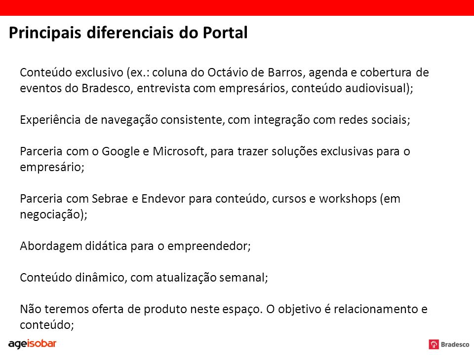 Principais diferenciais do Portal