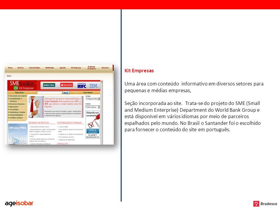 Kit Empresas Uma área com conteúdo informativo em diversos setores para pequenas e médias empresas,