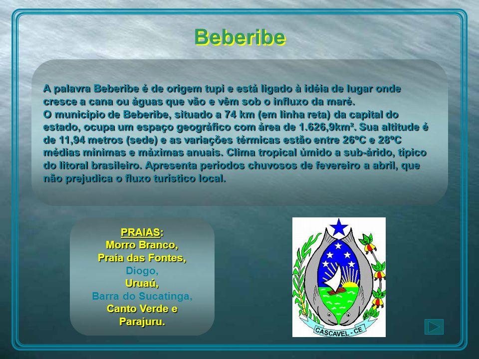 Beberibe A palavra Beberibe é de origem tupi e está ligado à idéia de lugar onde cresce a cana ou águas que vão e vêm sob o influxo da maré.