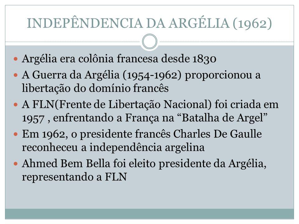 INDEPÊNDENCIA DA ARGÉLIA (1962)