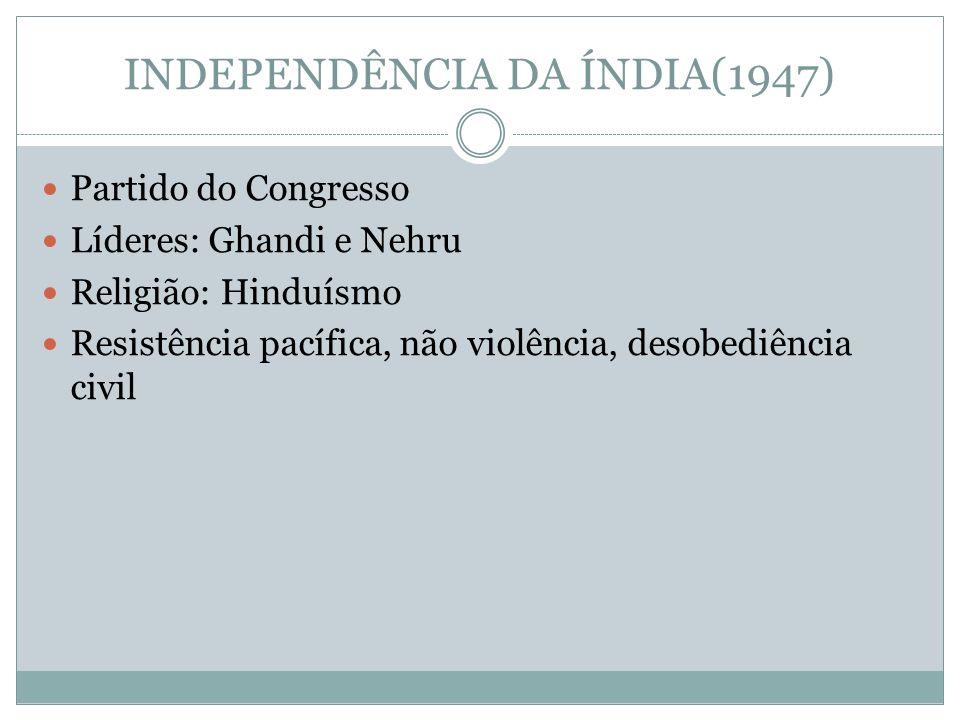 INDEPENDÊNCIA DA ÍNDIA(1947)