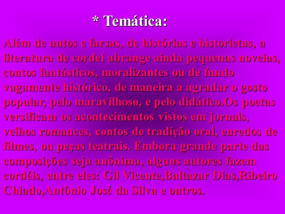 * Temática:
