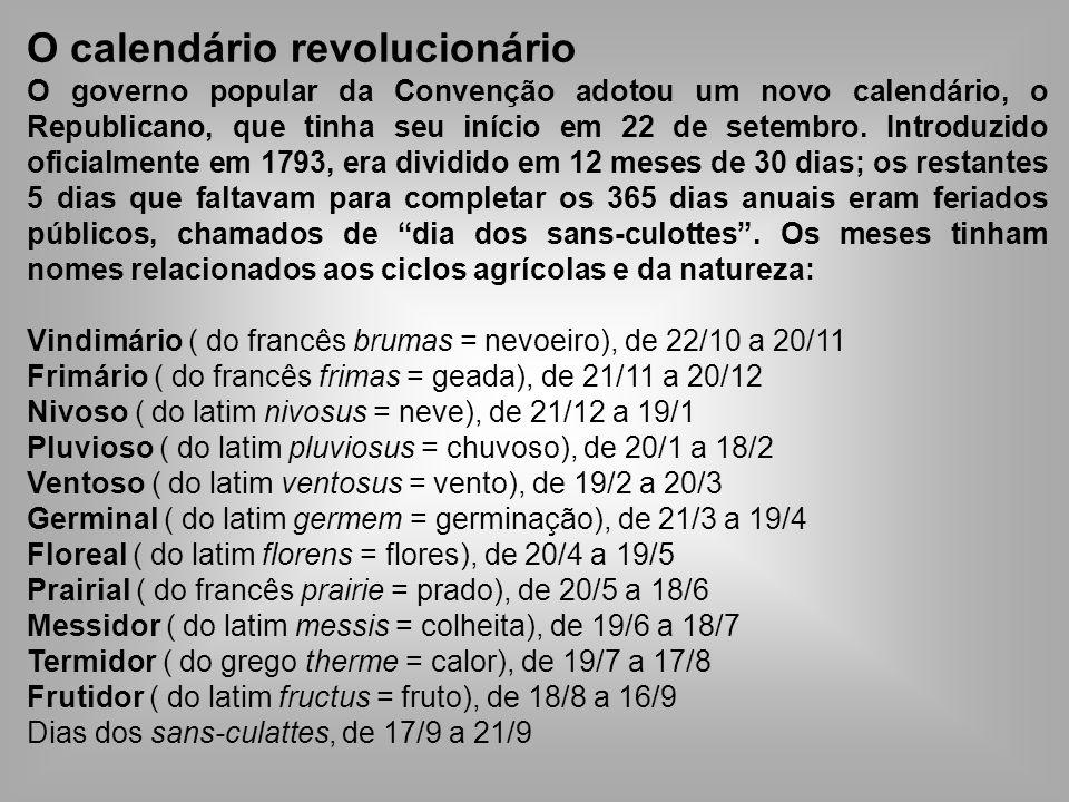 O calendário revolucionário