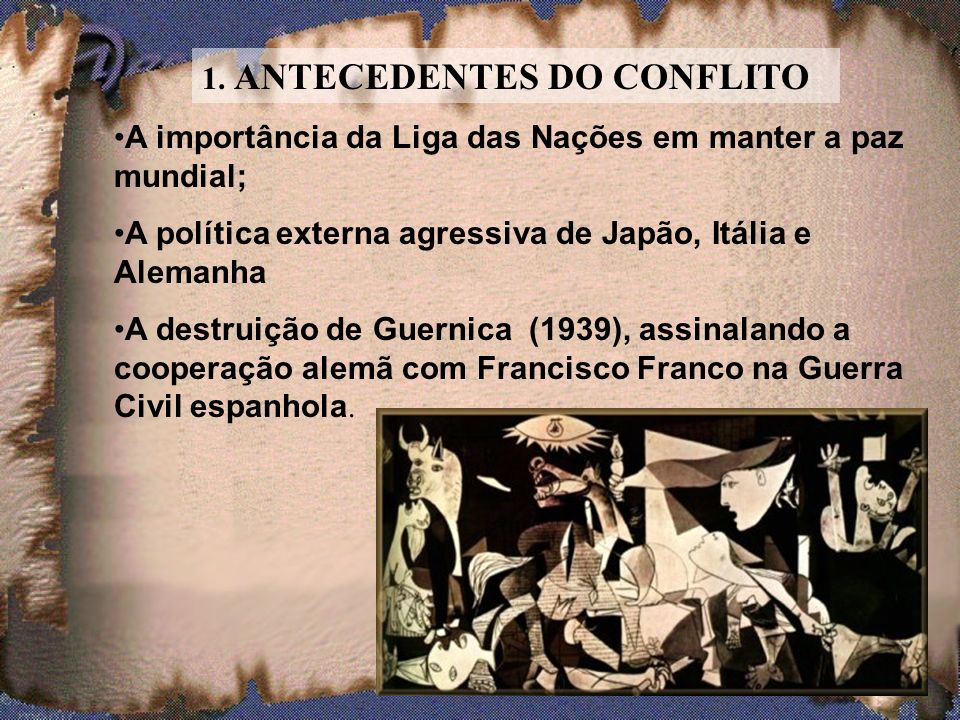 1. ANTECEDENTES DO CONFLITO
