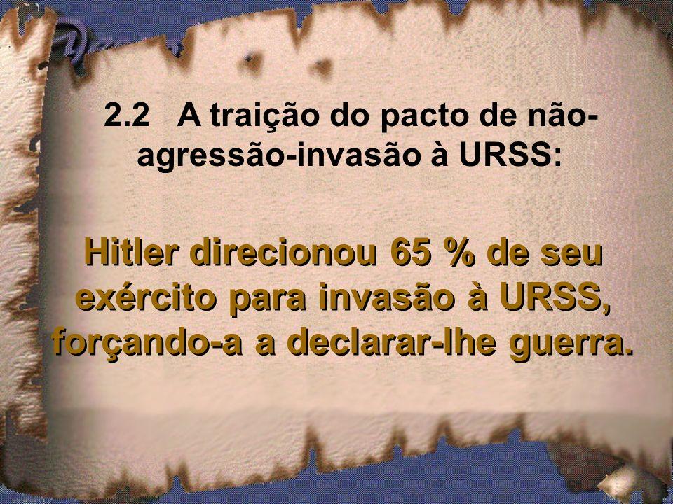 2.2 A traição do pacto de não-agressão-invasão à URSS: