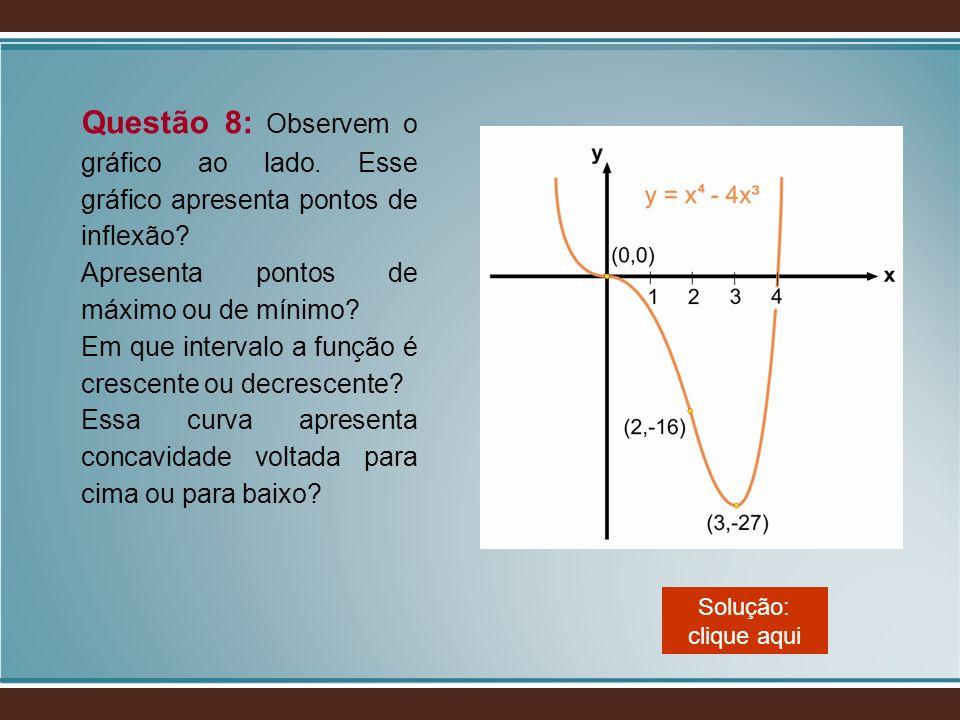 Questão 8: Observem o gráfico ao lado