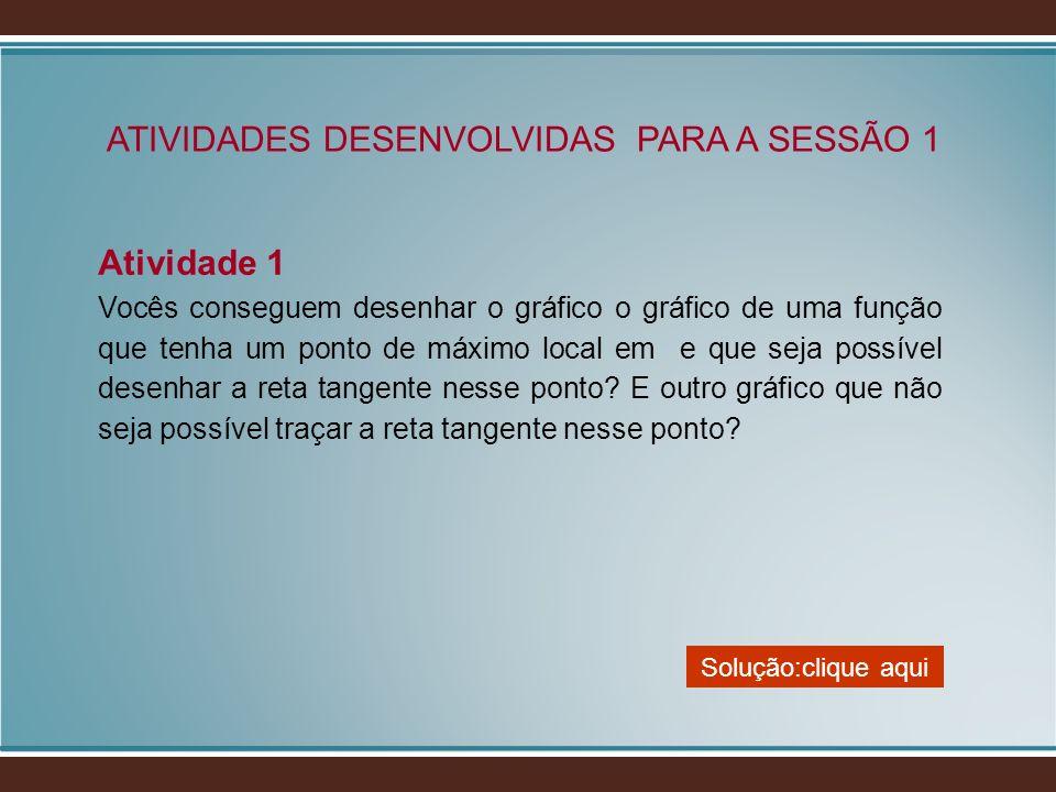 ATIVIDADES DESENVOLVIDAS PARA A SESSÃO 1