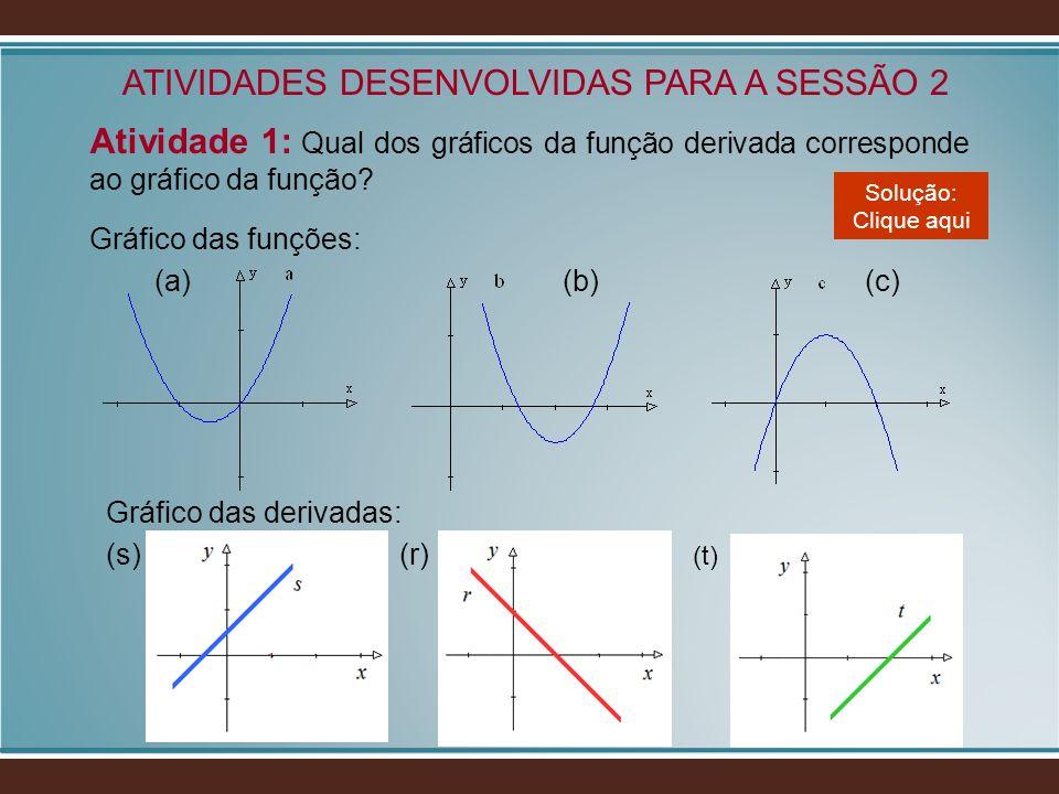 ATIVIDADES DESENVOLVIDAS PARA A SESSÃO 2