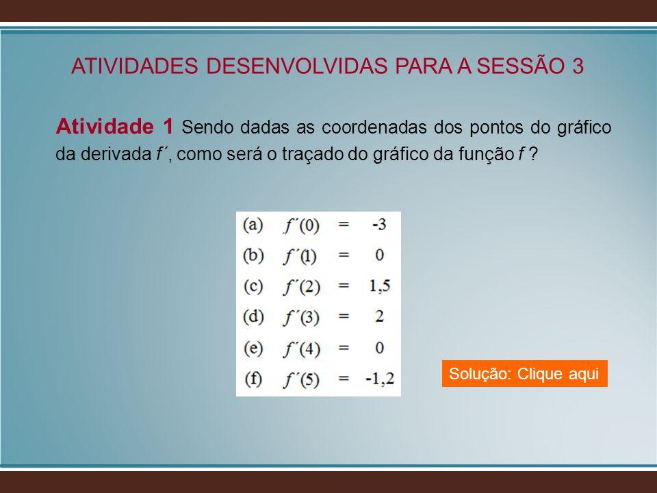 ATIVIDADES DESENVOLVIDAS PARA A SESSÃO 3