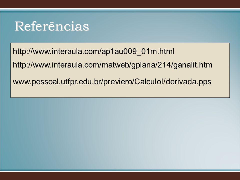 Referências http://www.interaula.com/ap1au009_01m.html