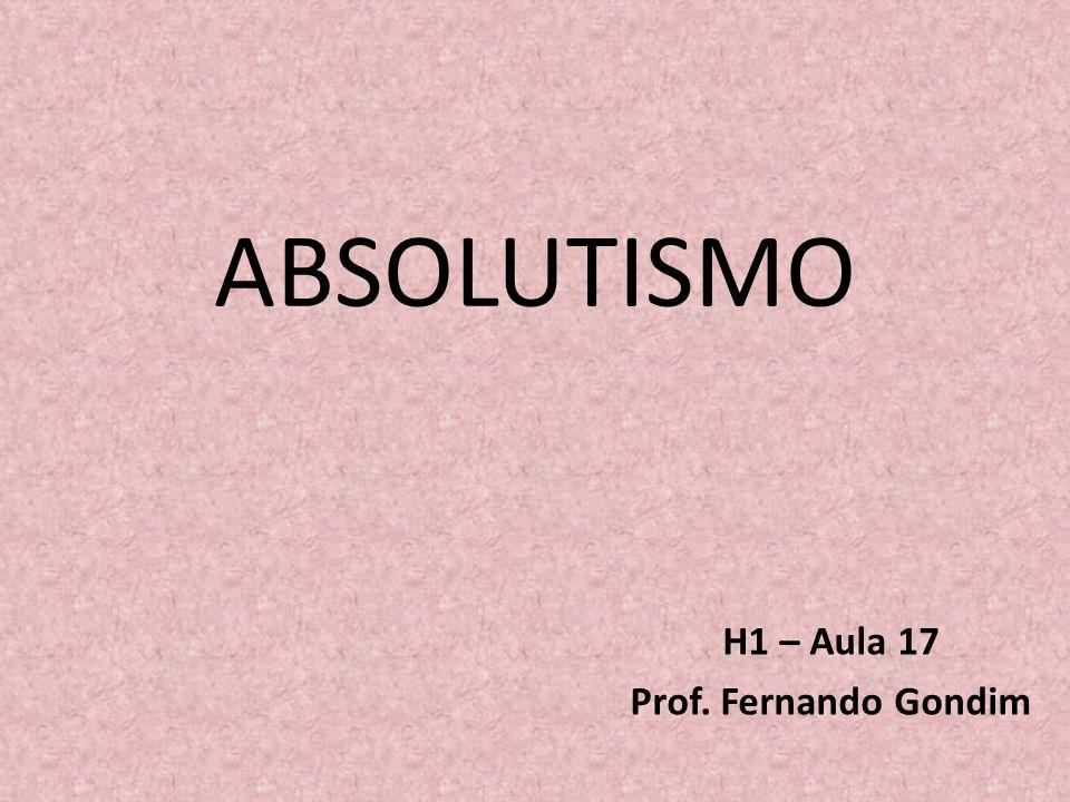 H1 – Aula 17 Prof. Fernando Gondim