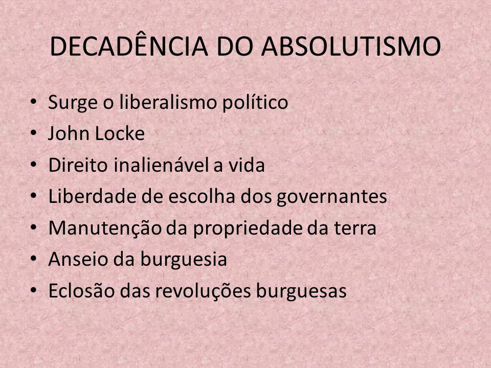 DECADÊNCIA DO ABSOLUTISMO