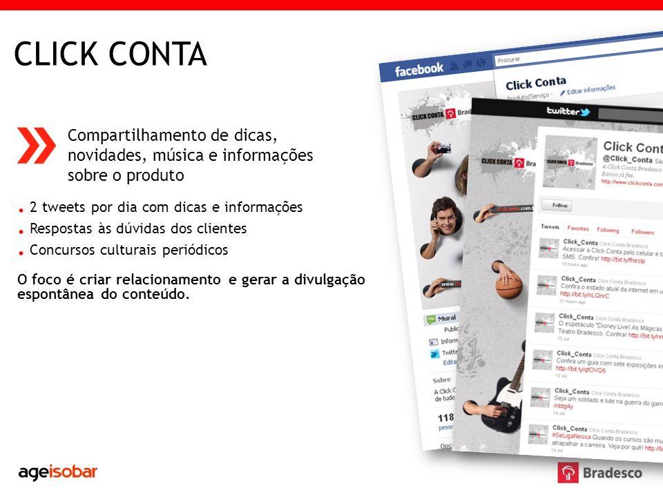 CLICK CONTA . 2 tweets por dia com dicas e informações