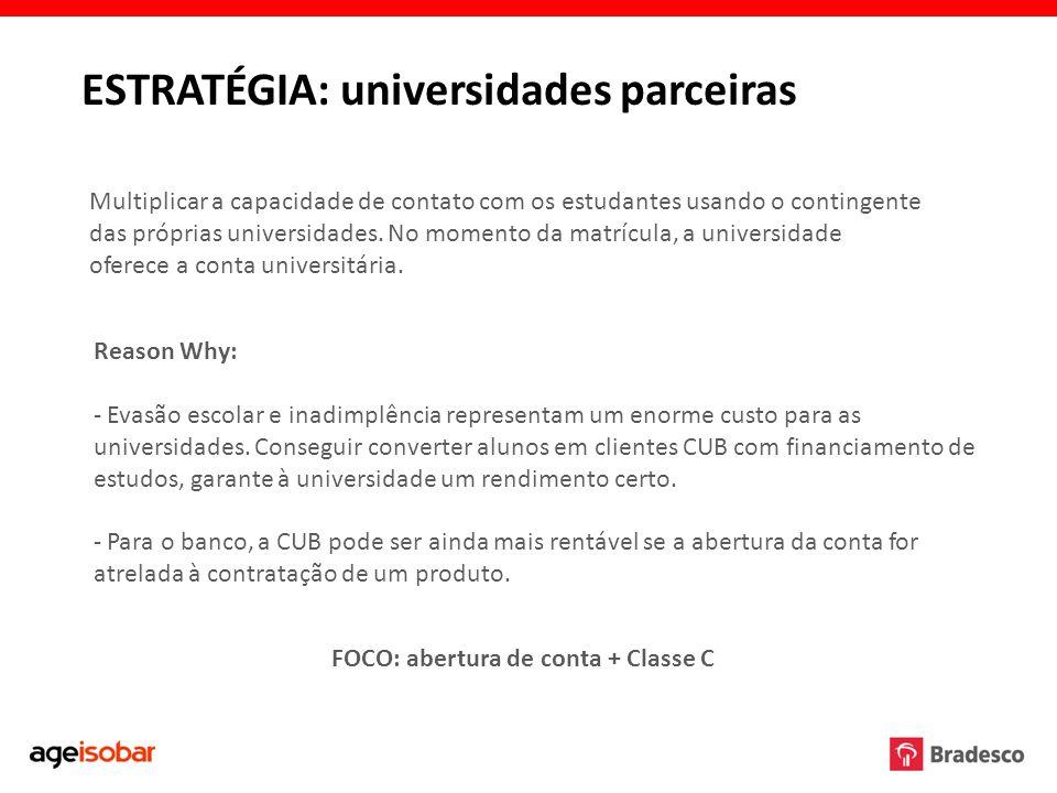 ESTRATÉGIA: universidades parceiras