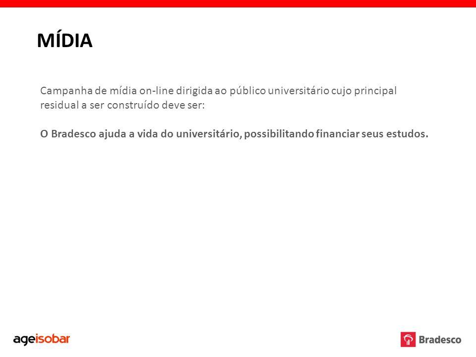 MÍDIACampanha de mídia on-line dirigida ao público universitário cujo principal residual a ser construído deve ser: