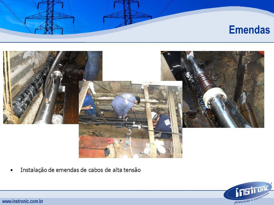 Emendas Instalação de emendas de cabos de alta tensão