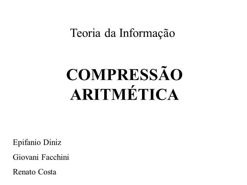 COMPRESSÃO ARITMÉTICA
