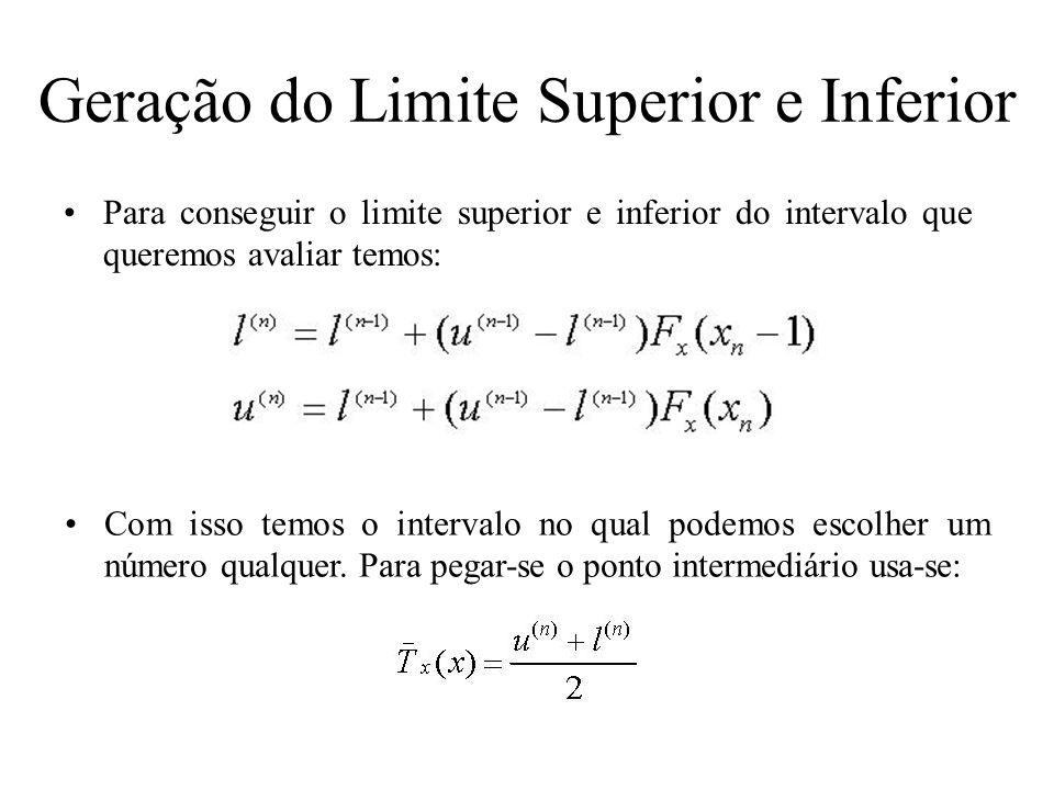Geração do Limite Superior e Inferior