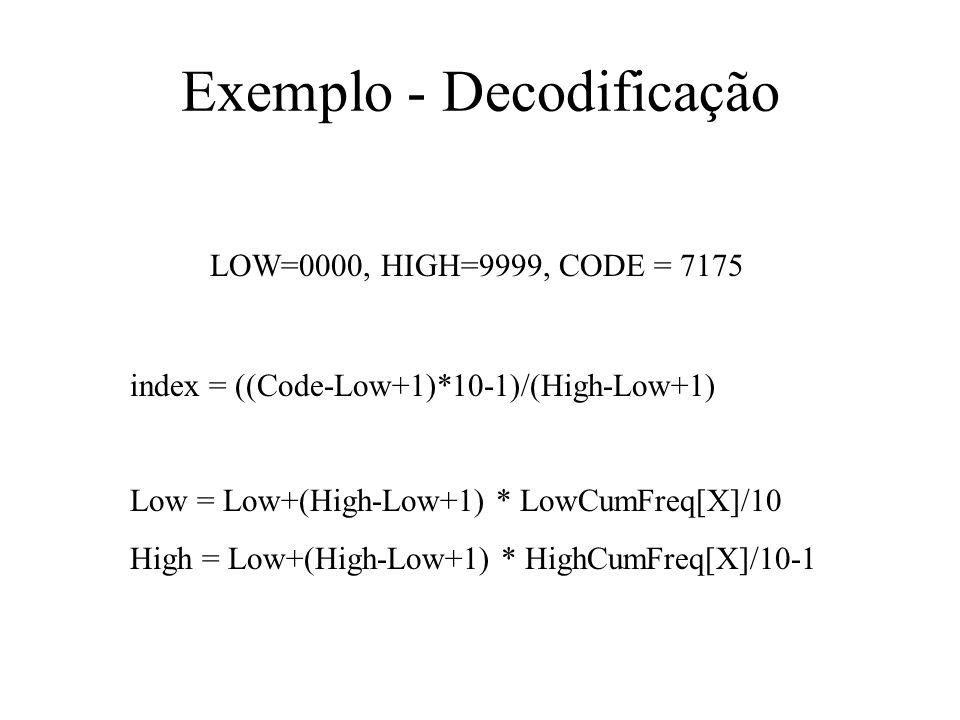 Exemplo - Decodificação