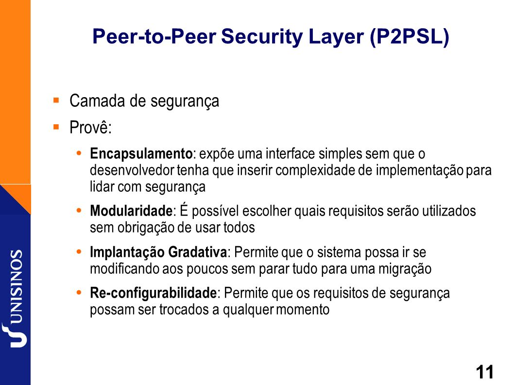Peer-to-Peer Security Layer (P2PSL)