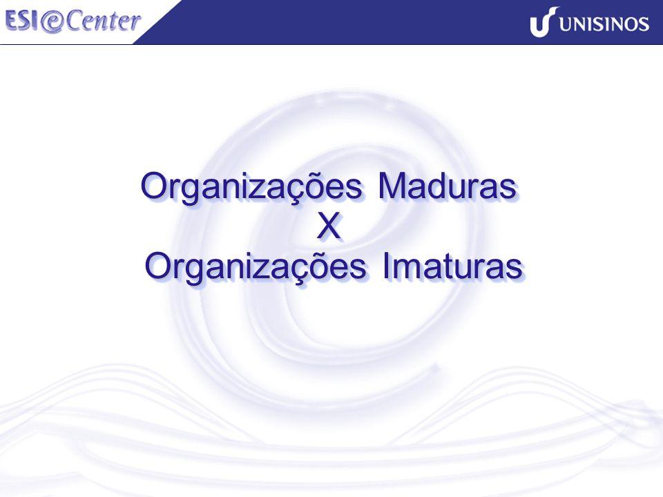 Organizações Maduras X Organizações Imaturas