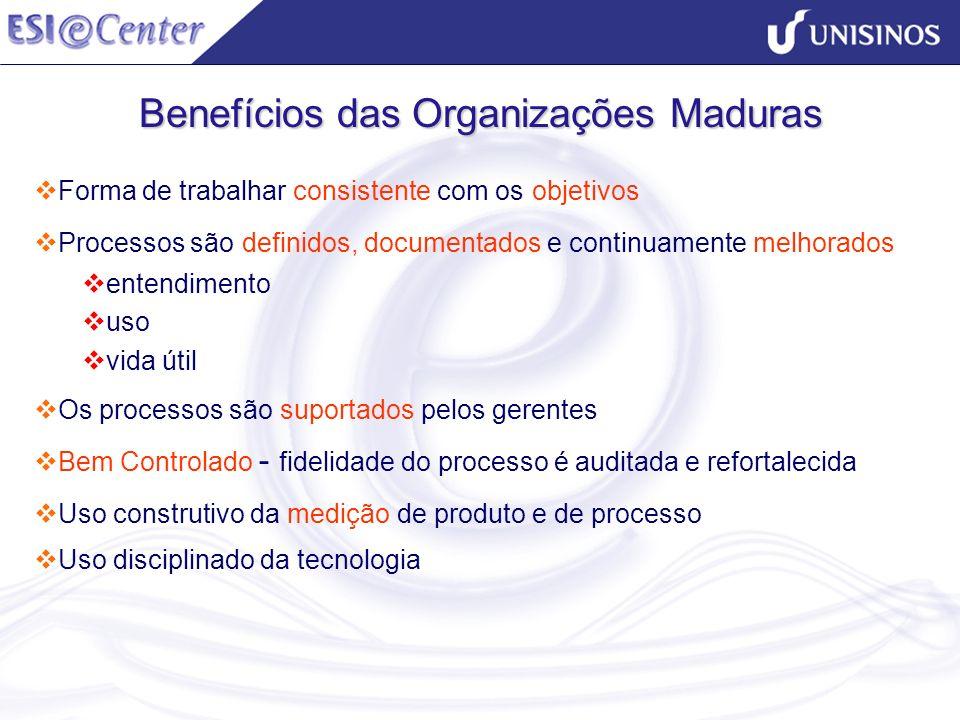 Benefícios das Organizações Maduras