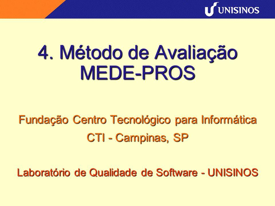 4. Método de Avaliação MEDE-PROS