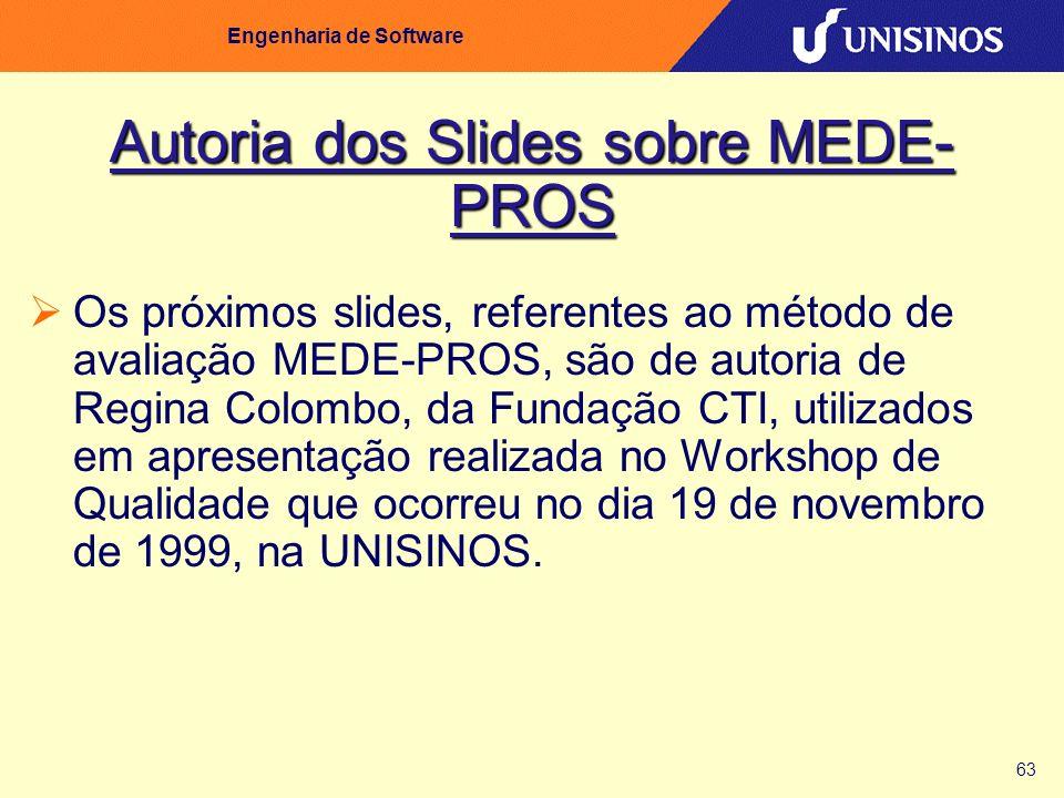 Autoria dos Slides sobre MEDE-PROS
