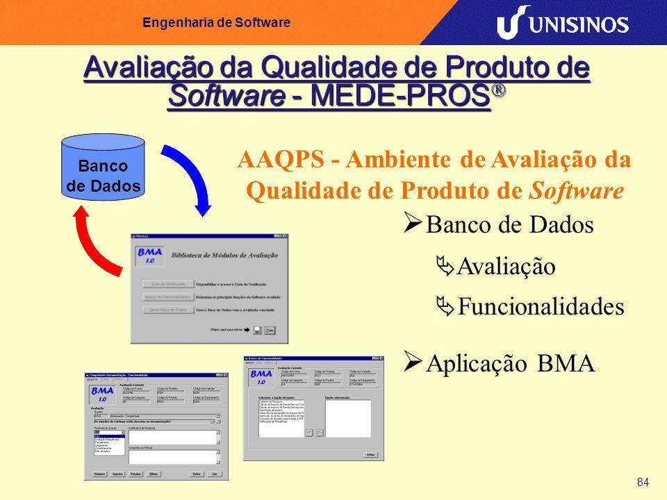 Avaliação da Qualidade de Produto de Software - MEDE-PROS