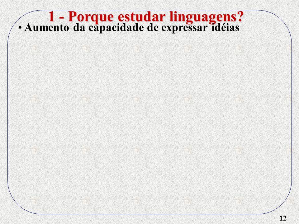 1 - Porque estudar linguagens