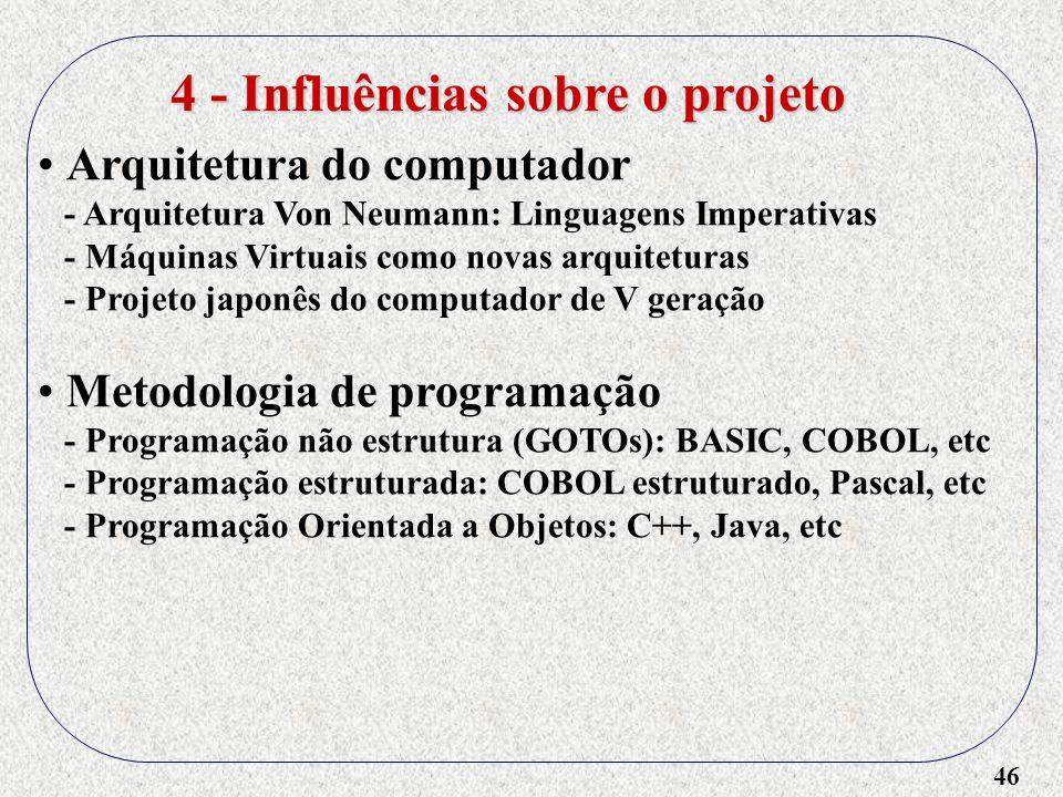 4 - Influências sobre o projeto