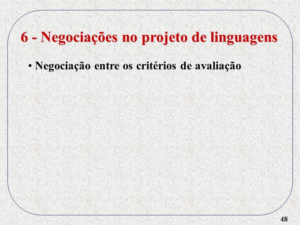 6 - Negociações no projeto de linguagens