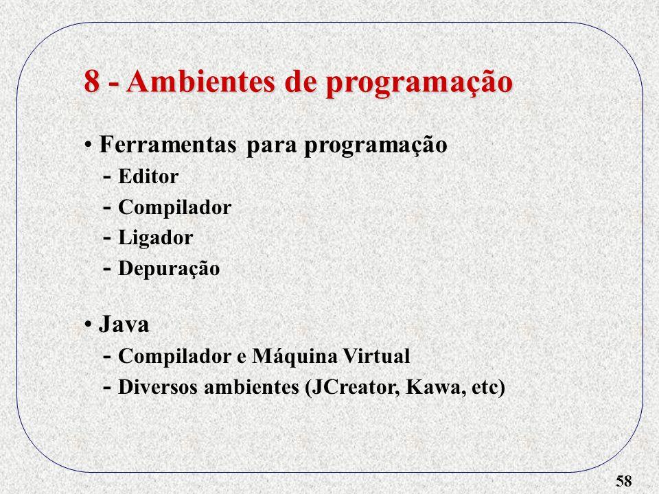8 - Ambientes de programação
