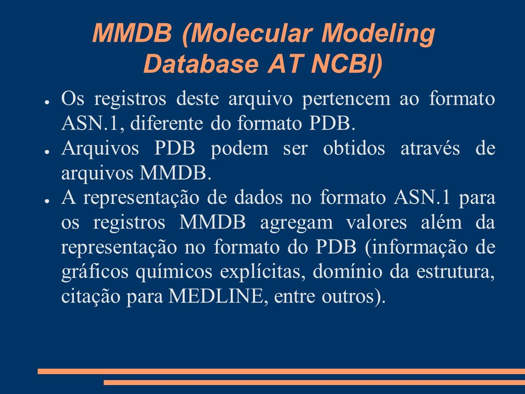 MMDB (Molecular Modeling Database AT NCBI)
