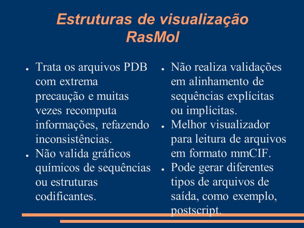 Estruturas de visualização RasMol