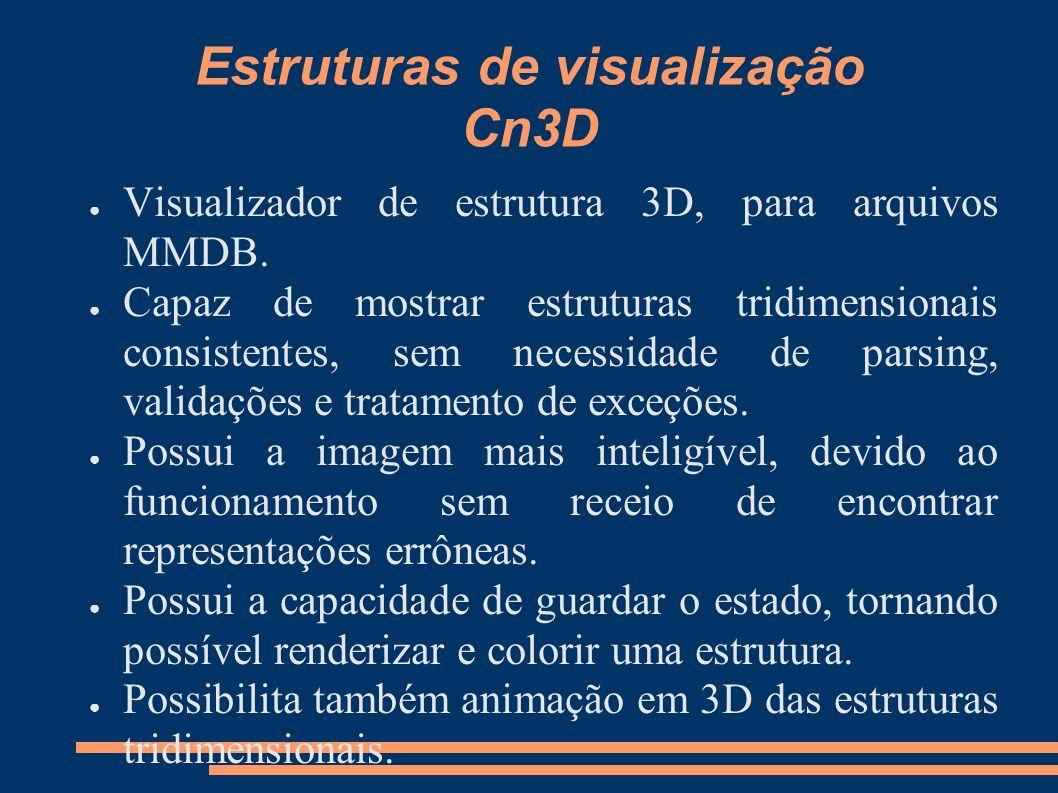 Estruturas de visualização Cn3D