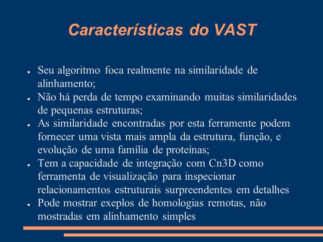 Características do VAST