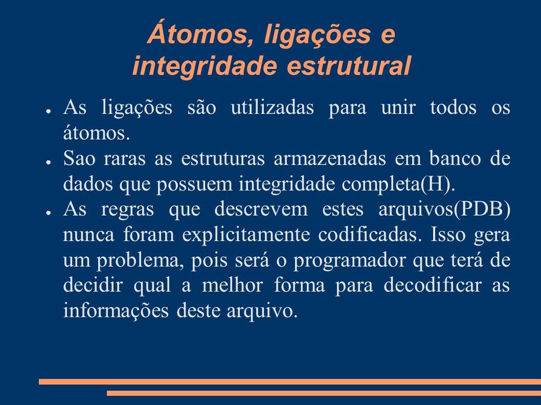 Átomos, ligações e integridade estrutural