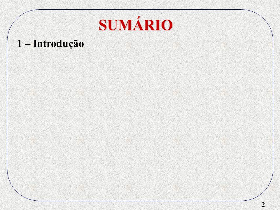 SUMÁRIO 1 – Introdução