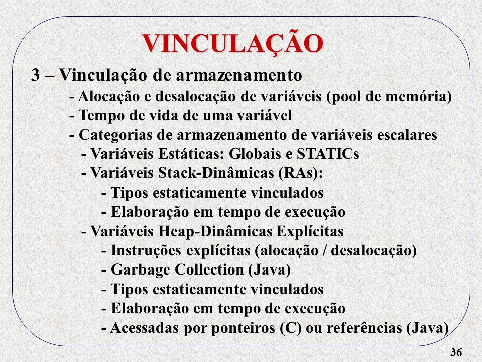 VINCULAÇÃO 3 – Vinculação de armazenamento