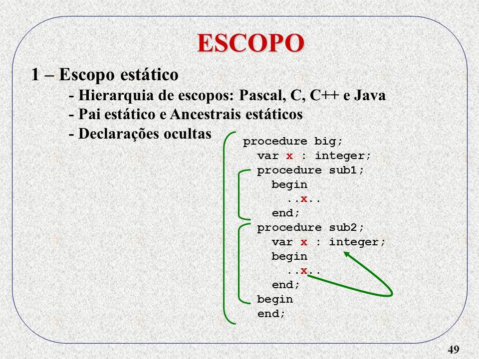 ESCOPO 1 – Escopo estático