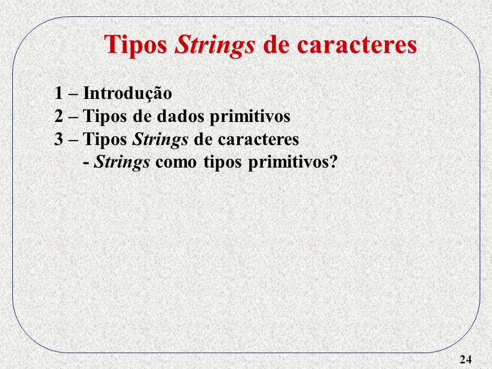 Tipos Strings de caracteres