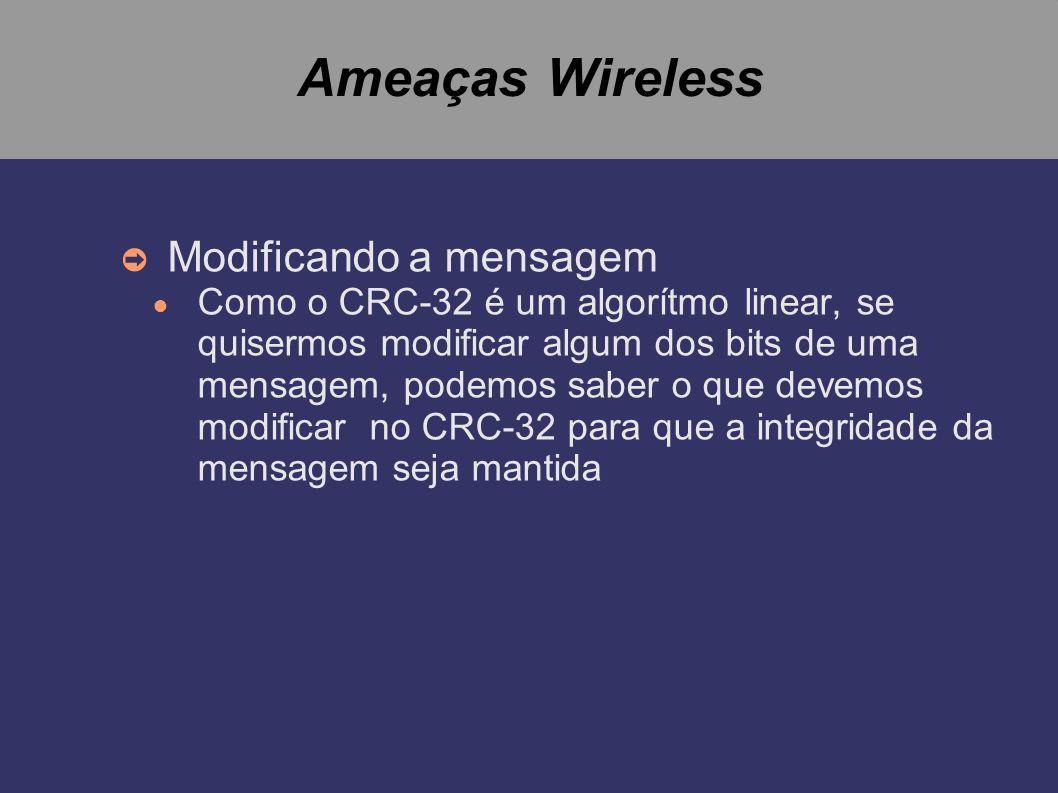 Ameaças Wireless Modificando a mensagem