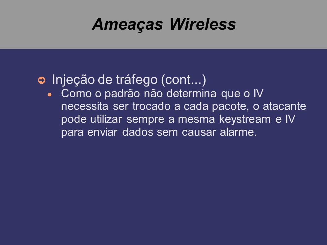 Ameaças Wireless Injeção de tráfego (cont...)