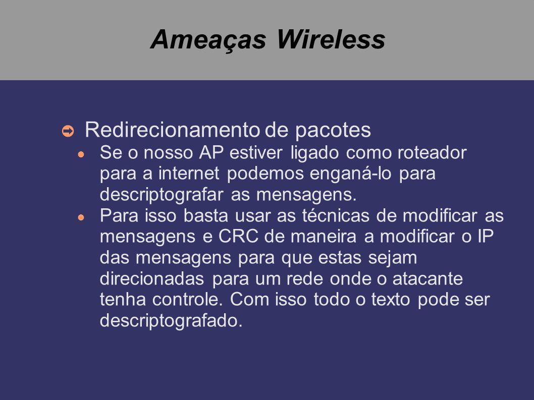 Ameaças Wireless Redirecionamento de pacotes