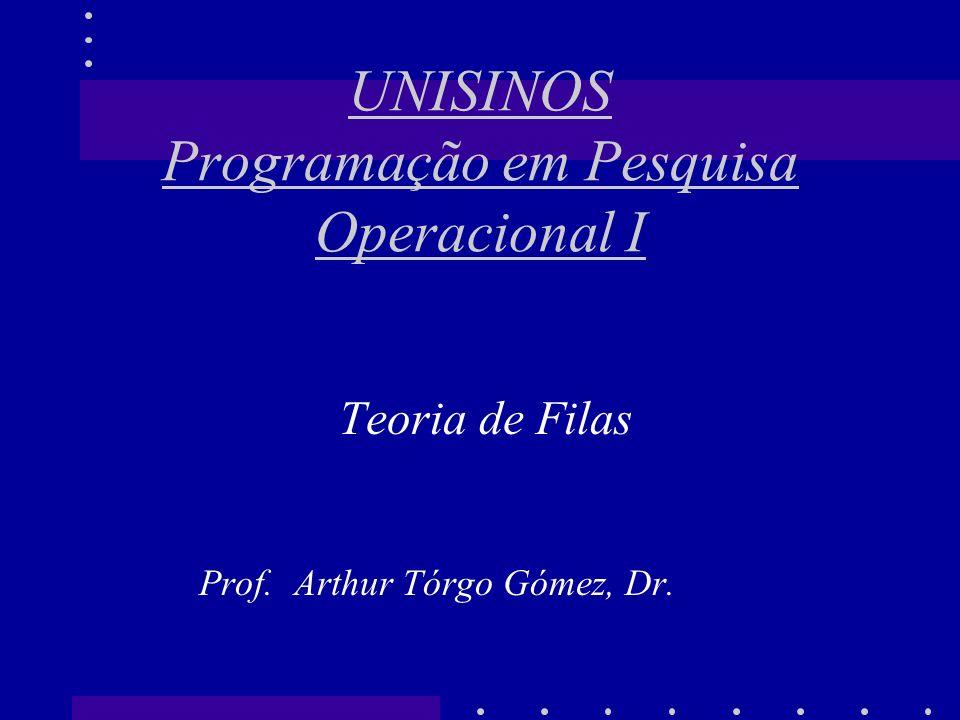 UNISINOS Programação em Pesquisa Operacional I