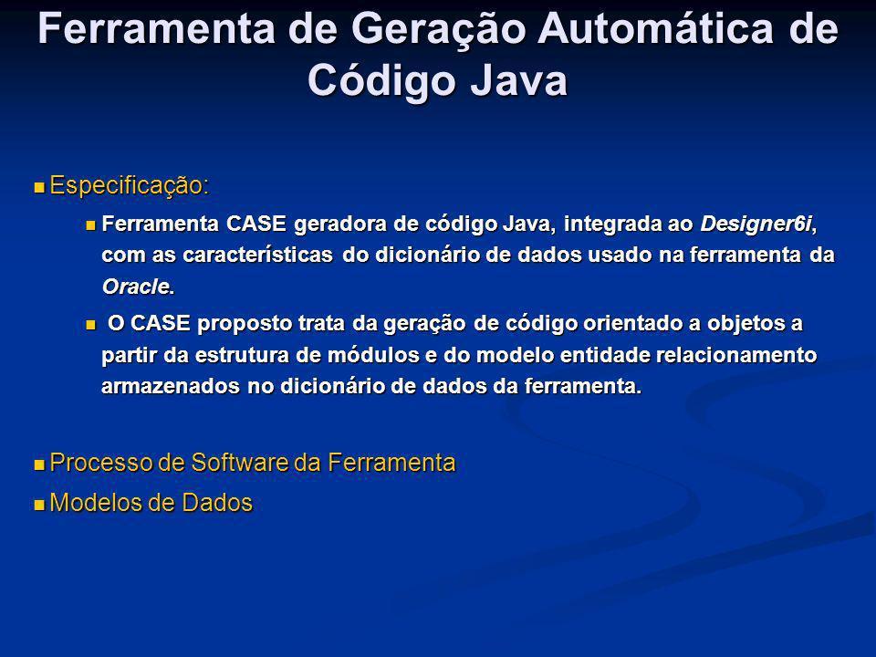 Ferramenta de Geração Automática de Código Java