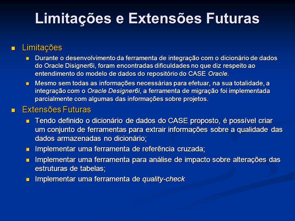 Limitações e Extensões Futuras