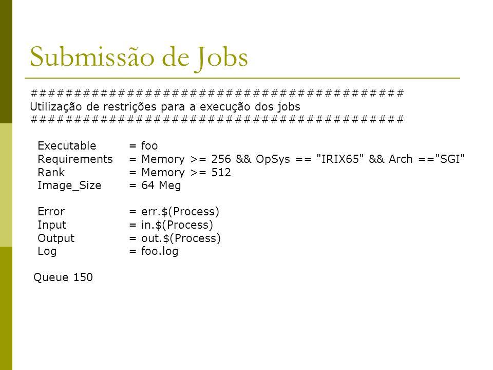 Submissão de Jobs ##########################################