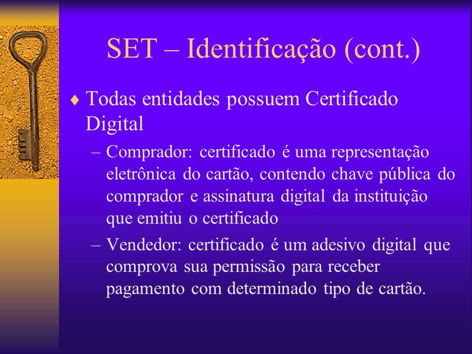 SET – Identificação (cont.)